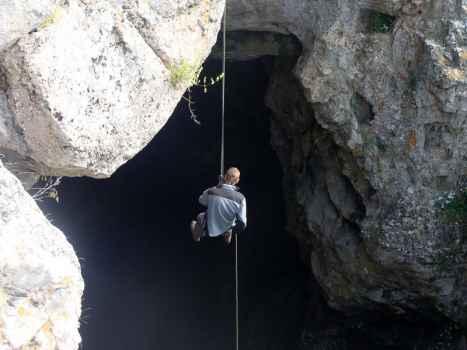 Спуск в пещеру Бузулук