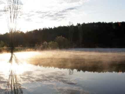 Озеро у стоянки