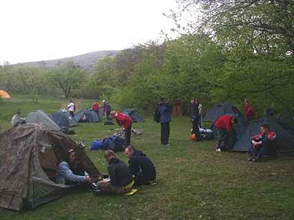 Лагерь у Красных пещер