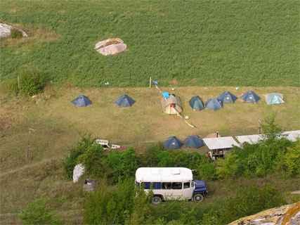 Вид на наш лагерь