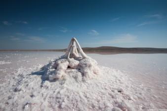 Соляные фигуры Кояшского озеро